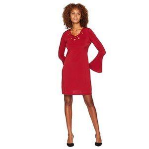 New! Michael Kors Grommet Lacing Jersey Dress